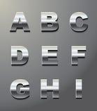 Letras brilhantes do metal Imagens de Stock