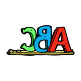 letras cómicas de ABC de la historieta Imagen de archivo libre de regalías