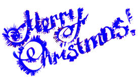 Letras caligráficas de la Feliz Navidad Foto de archivo libre de regalías