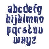 Letras caligráficas minúsculas dibujadas con el cepillo de la tinta, monocromático Imagenes de archivo