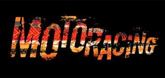 Letras campo a través del moto del grunge Fotografía de archivo