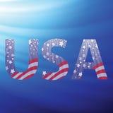 Letras capitalas dos EUA com teste padrão da bandeira Fotografia de Stock Royalty Free