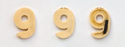 Letras cirílicas plásticas brilhantes com o ímã no Livro Branco fotografia de stock