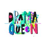 Letras color de rosa de la cita de la camisa de la reina del drama libre illustration