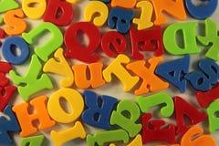 Letras coloridas Fotografia de Stock