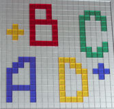 Letras coloridas A B C D imagens de stock royalty free