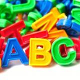Letras coloridas del ABC Foto de archivo libre de regalías