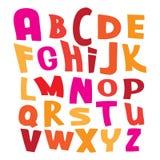 Letras coloridas del alfabeto del vector en el illustra blanco Foto de archivo libre de regalías