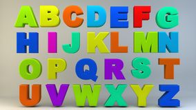 Letras coloridas do alfabeto Fotografia de Stock