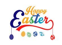 Letras coloridas felices de Pascua imágenes de archivo libres de regalías