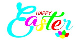 Letras coloridas felices de Pascua stock de ilustración
