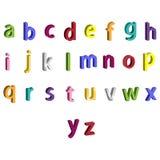 Letras coloridas pequenas do alfabeto 3D Fotos de Stock