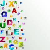 Fondo abstracto del alfabeto Fotografía de archivo libre de regalías