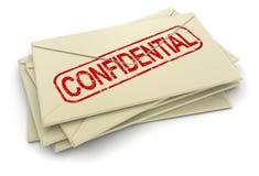 Letras confidenciales (trayectoria de recortes incluida) Fotos de archivo