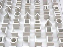 Letras coreanas em uma parede branca grande para o fundo fotos de stock