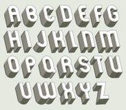 Letras 3d corajosas e pesadas ajustadas ilustração royalty free