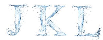 Letras da água Imagem de Stock