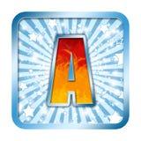 Letras da celebração do alfabeto - A Imagens de Stock