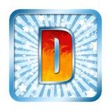 Letras da celebração do alfabeto - D Foto de Stock Royalty Free