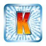 Letras da celebração do alfabeto - K Fotografia de Stock Royalty Free