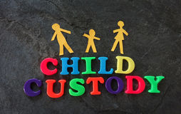 Letras da custódia infantil Fotografia de Stock