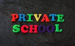 Letras da escola privada Imagens de Stock Royalty Free