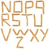 Letras da massa ajustadas Imagens de Stock Royalty Free