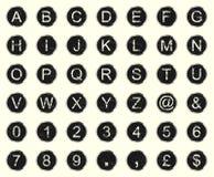 Letras da máquina de escrever do vintage Fotos de Stock Royalty Free