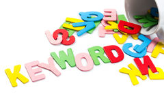 Letras da palavra-chave Imagem de Stock Royalty Free