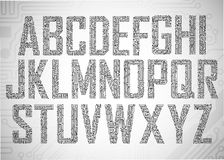 Letras da placa de circuito ilustração royalty free