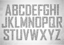 Letras da placa de circuito Fotografia de Stock Royalty Free