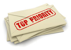 Letras da prioridade máxima (trajeto de grampeamento incluído) Imagens de Stock Royalty Free