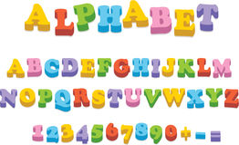 Letras da soletração do alfabeto do ímã do refrigerador do vetor Imagens de Stock Royalty Free