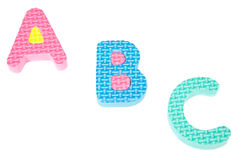 Letras das cores do alfabeto imagens de stock