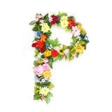 Letras das folhas e das flores Imagem de Stock