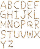 Letras das pedras fotos de stock