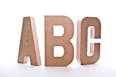 Letras de ABC Fotos de archivo