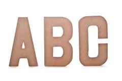 Letras de ABC Imagen de archivo libre de regalías