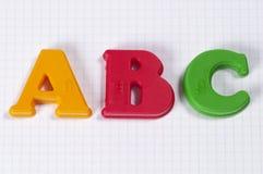Letras de ABC Imagen de archivo