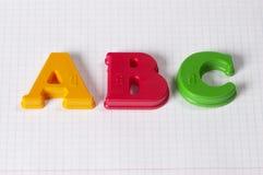 Letras de ABC Imágenes de archivo libres de regalías
