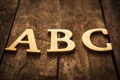 Letras de ABC Foto de archivo