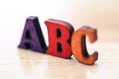 Letras de ABC Fotografía de archivo