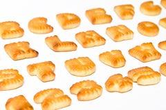Letras de ABC de las galletas Fotos de archivo libres de regalías