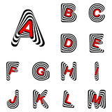 Letras de ABC do projeto de à M Imagens de Stock