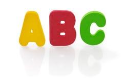 Letras de ABC en el fondo blanco Fotografía de archivo libre de regalías
