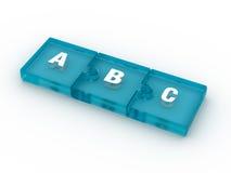 Letras de ABC en llaves de ordenadores Imagenes de archivo