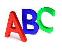 Letras de ABC imagem de stock