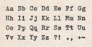 Letras de ABCD Foto de archivo