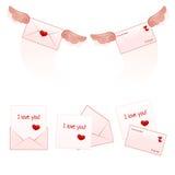 Letras de amor Imagem de Stock