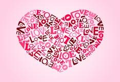 Letras de amor Foto de Stock Royalty Free